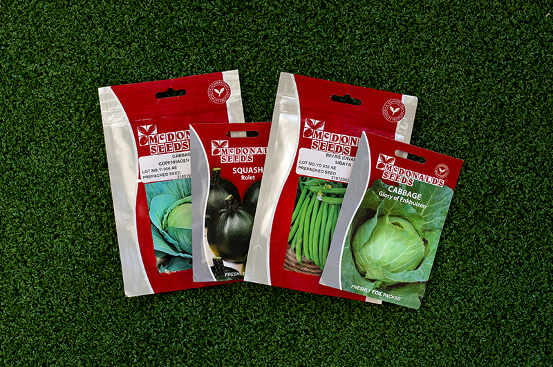 McDonalds Seeds vegetable seed packets