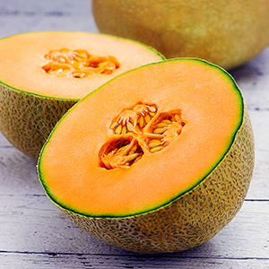 sweet Melon with seeds